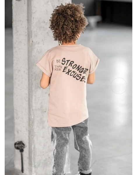 Tshirt Strong Beige